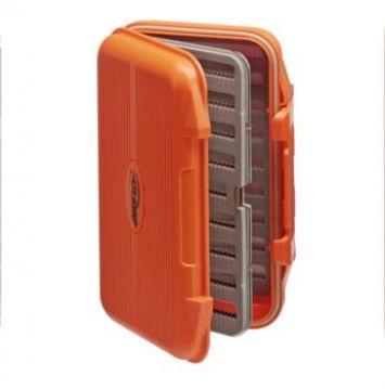 Airflo Aqua-Tec Fly Box - Orange. Slit Foam Swing Leaf