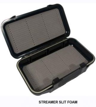 Airflo Aqua-Tec Fly Box - Black. Slot Foam