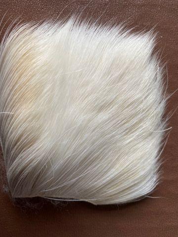 Deer Body Hair - Bleached Off White