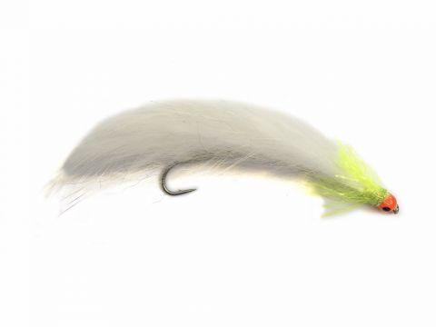 Fario Mini Snake - 5cm White Cat Orange Bead Eye