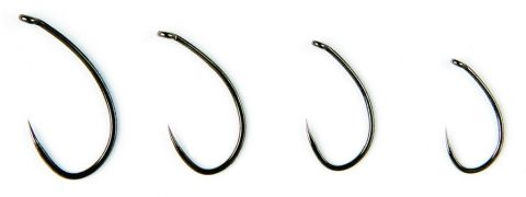 Fulling Mill Hooks By Hayabusa - 35065 Czech Nymph Barbless Black Nickel