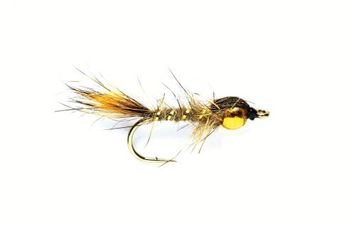 Gold Ribbed Hare's Ear Nymph - Golden Nugget #12