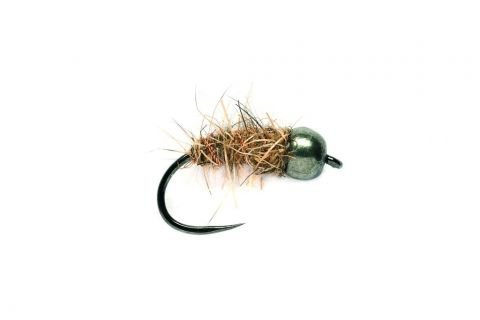 Hare's Ear Black Tungsten Head Barbless #14