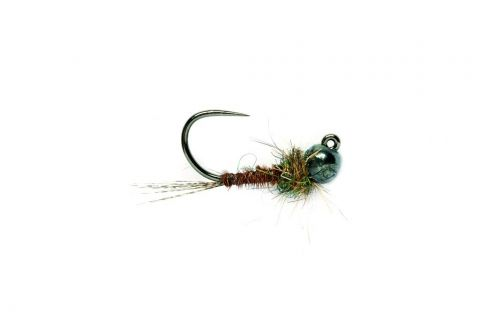 Natural Pheasant Tail Tunsten Head Jig Barbless #14