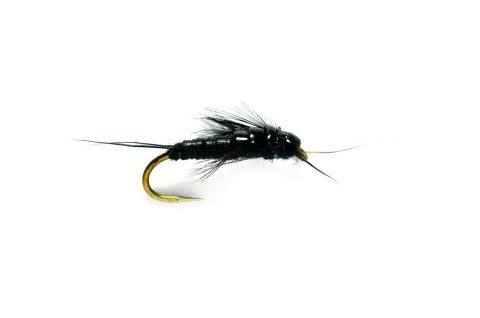 Oliver Edwards Small Black Stonefly Nymph #14 - Barbless