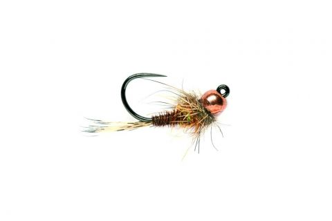 Pheasant Tail Hot Spot Tungsten Head Barbless #14