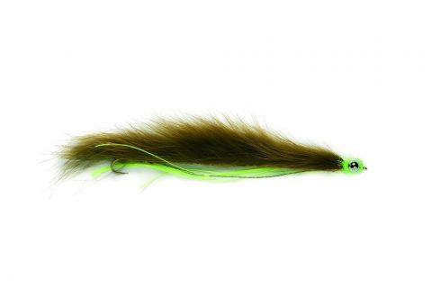 "Snake Fly 2.75"" Olive - Barbless"