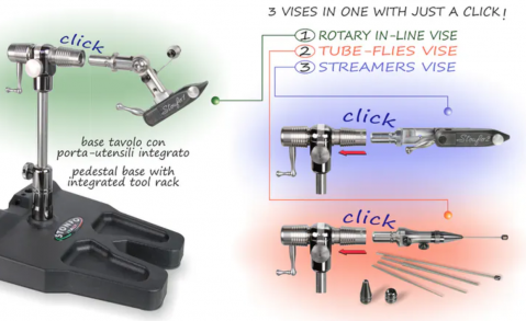 Stonfo Transformer Fly Tying Vice, STF654. In Stock for Next Day delivery!
