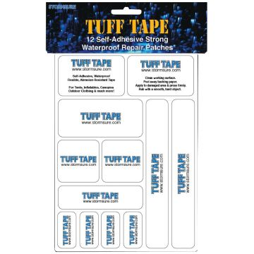 Stormsure Tuff Tape - 12 Self Adhesive, Waterproof Patches
