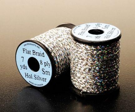 Uni Holographic Flat Braid - Silver
