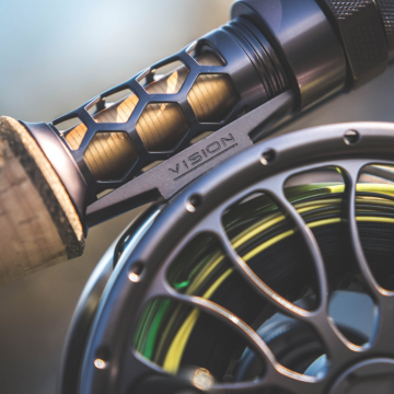 Vision XO Salmon Reel (shown with Vision  XO Graphene Rod)