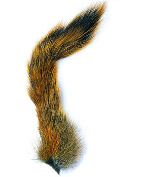 Squirrel Tail - Fox - Veniard. Natural or Black