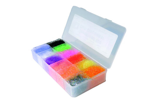 Dubbing Dispenser & Ice Dub Selection Salmon / Seatrout