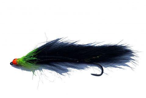Fario Mini Snake - 5cm Black Cat Orange Bead Eye
