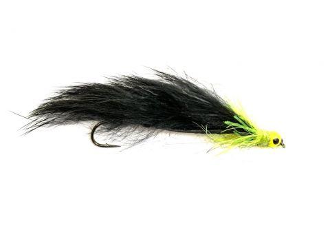 Fario Mini Snake - 5cm Black Cat Chartreuse Bead Eye