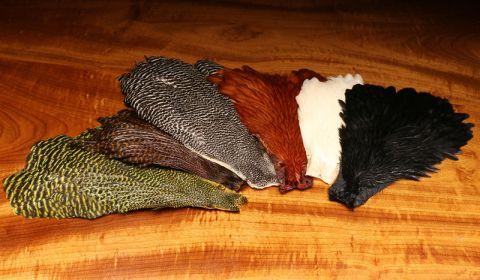 Hareline Large Black Hen Capes