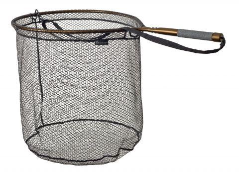 McLean Short Handled Rubber Mesh Sea Trout/ Salmon Net - Bronze Series. MSS/ R422