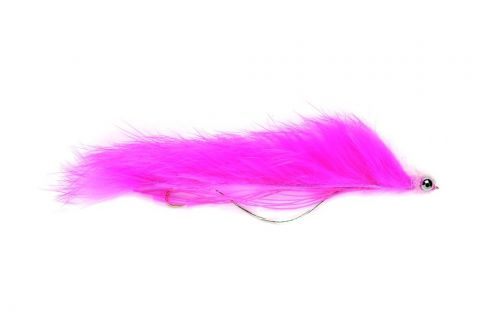 """Snake Fly 2.75"""" Pink - Barbless"""