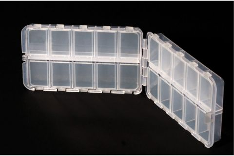Twin Sided 20 Compartment Box - 8.5cm x 15cm x 4cm