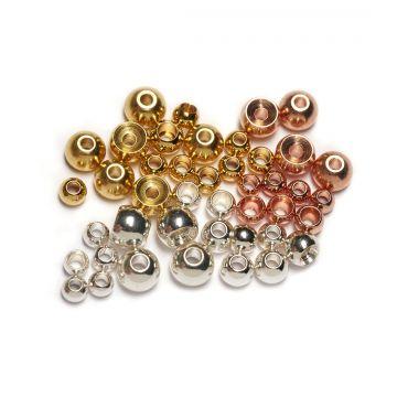 Veniard Metal Bead Heads - Brass Beads Plated