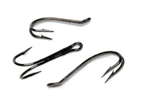 Veniard Osprey Scandinavian Up-Eye Salmon Doubles - Black, Silver or Gold. VH003